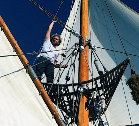 Captain Taeo in the Crows Nest of the Jolly Breeze